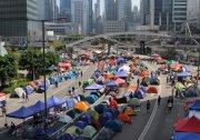 外媒:香港抗議營地已變成了一個都市村莊 組圖