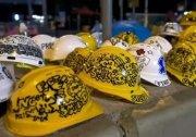 香港佔中安全頭盔抵擋警棍 引領抗爭 象徵新風騷 圖
