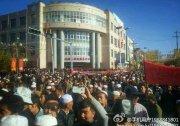 青海化隆上萬回族上街遊行 抗議貧困縣搬遷 官員無視民生 組圖