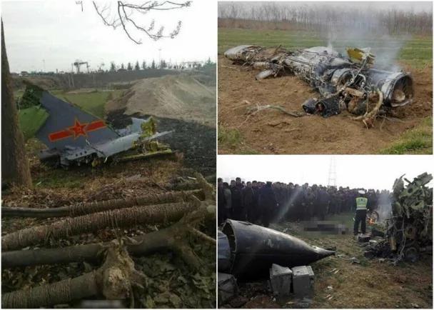 傳陝西墜毀軍機為殲轟7「飛豹」戰機(圖)