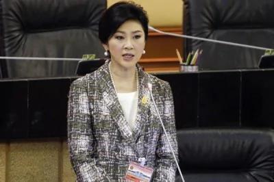 泰国国会今天确定通过前总理盈拉的弹劾案。(路透)