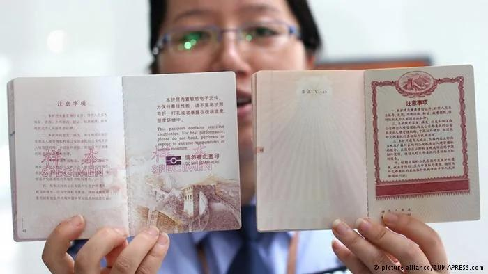 China Reisepass biometrische Daten