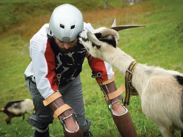 做人太累,英国设计师过上当山羊的生活