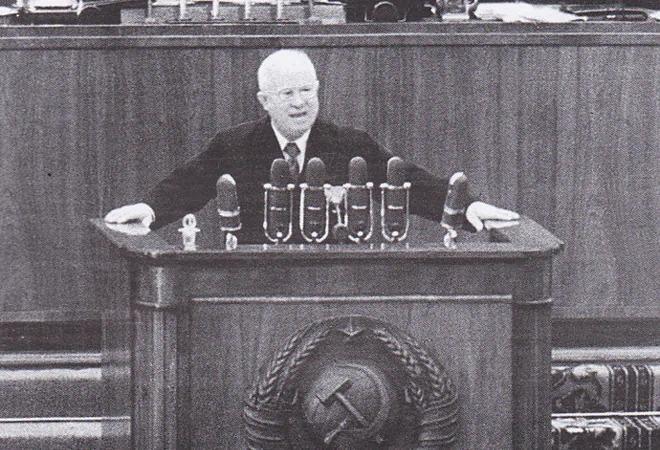赫鲁晓夫在苏共二十大上作报告讲话