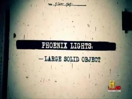 此大範圍目擊UFO案例被記錄為「鳳凰城光團」事件。(Youtube視頻截圖)