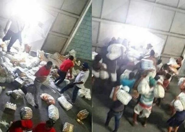 委内瑞拉饿民抢掠华人店铺 数万华人逃离 图