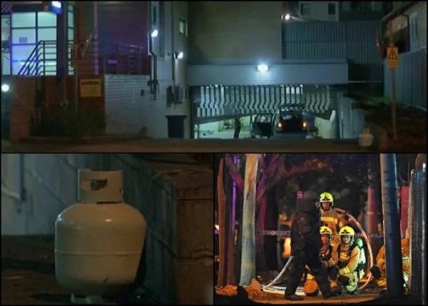 驾车载石油气罐冲入警局 悉尼汉自焚重伤 图