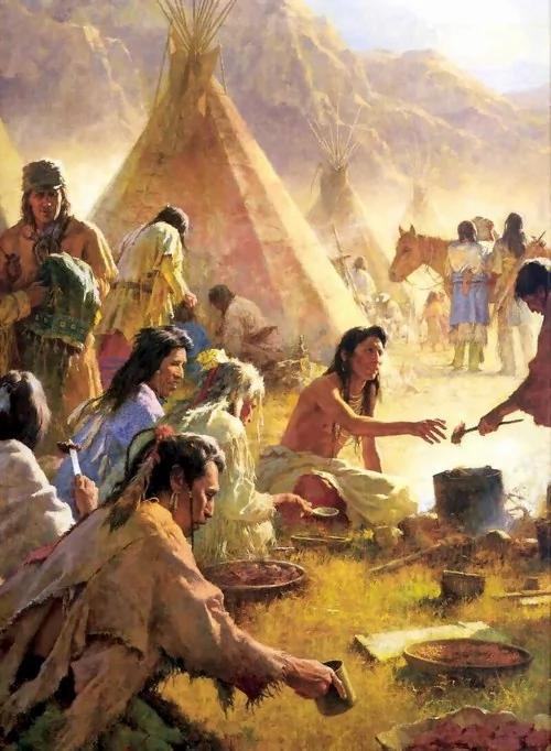 美洲先民开拓场景