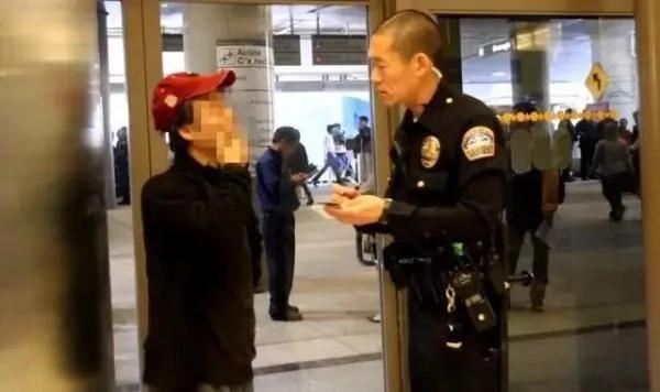中国女美国机场打人免起诉 网友哗然 图