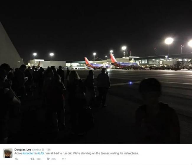 洛杉矶机场惊穿枪击案 3个航厦关闭 组图