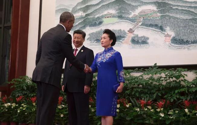 """当局收""""网"""",彭丽媛G20晚宴装少了掌声(图)"""