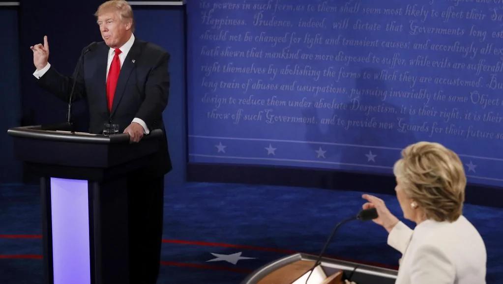 美国总统候选人第三场电视辩论会:政见激烈交锋 图