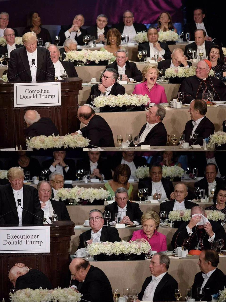 厉害了哥!最后的晚餐:川普在艾尔史密斯慈善晚宴上的演讲