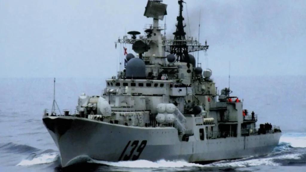 应对美国军舰南海自由航行 中共海军加紧驱逐对抗训练 图