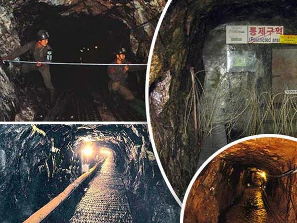 """韩国发现朝鲜秘密""""入侵隧道"""" 记者实地探访…"""