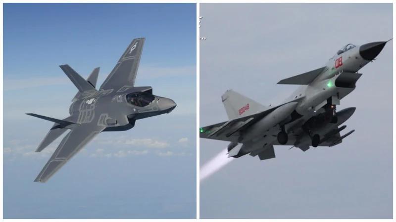 共军歼10战机坠毁频发 美军F35一次打歼10击落27架