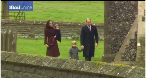 体验民间生活 威廉王子随王妃回娘家过圣诞