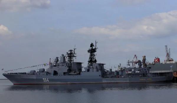 俄菲将军演 俄军舰距美使馆1公里
