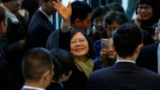 台湾总统蔡英文过境美国旧金山压轴行程:推特总部