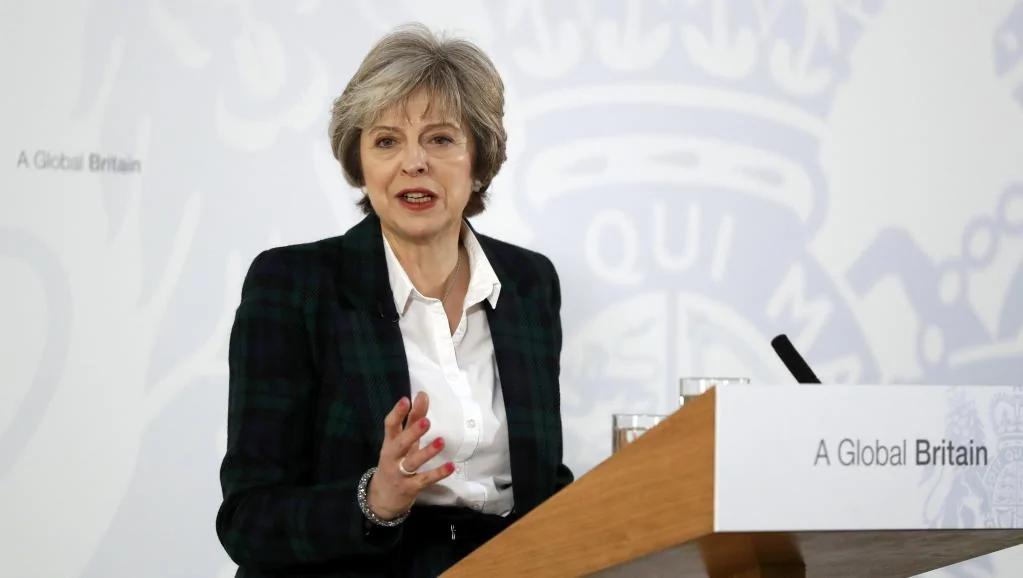 """梅首相脱欧干脆 欧盟据说要600亿欧元""""分手费"""""""