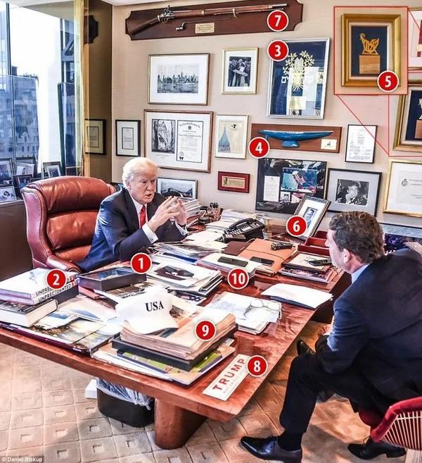 特朗普办公室陈设曝光:其中一个物品和中国有关