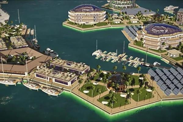 壮观!世界首座海上漂浮城市将现南太平洋