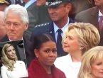 克林顿一直盯着伊万卡 遭希拉里怒视(图集)