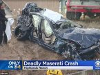 驾玛莎拉蒂直播 时速飙178公里车祸身亡(图)