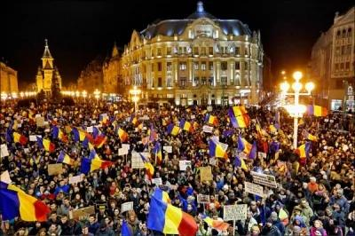 帮贪官除罪全国抗议 罗马尼亚政府不干了