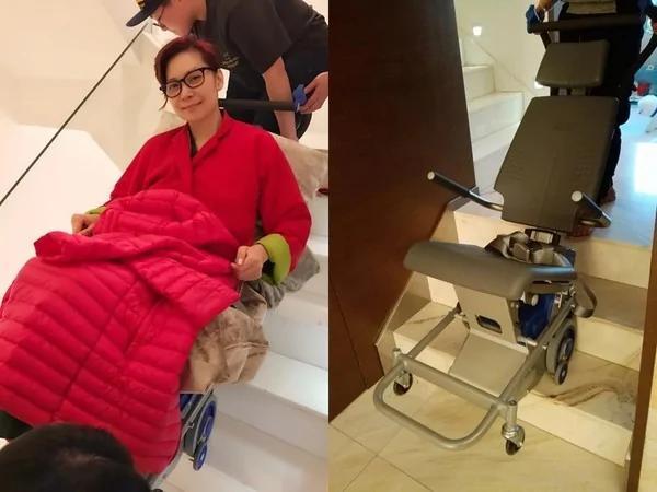 邝美云如今坐轮椅代步