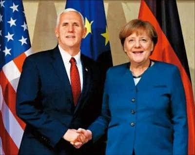 默克尔和彭斯喊话 关于北约、美欧关系及俄罗斯问题