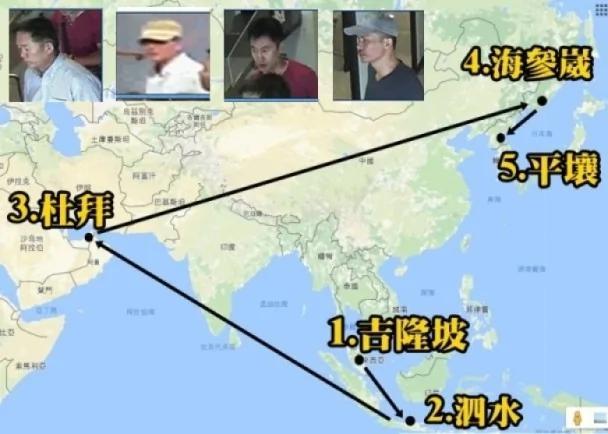 金正男遇刺:迂回路线逃走 疑犯经3国返朝