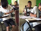 男童家境贫穷 他用一只拖鞋克服了困难(图/视频)