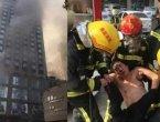 江西饭店大火16人死伤 260多人疏散(组图)
