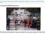 硅谷被百年水灾淹惨了 数千人数日难返家 市长道歉(图)
