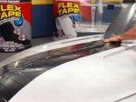 开了外挂的防水胶带 哪里有漏粘哪里(图/视频)