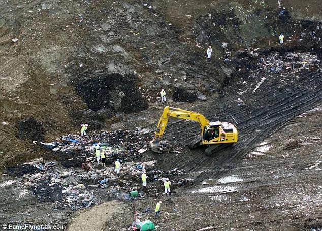 英皇家飞行员失踪 疑被误投入垃圾填埋场