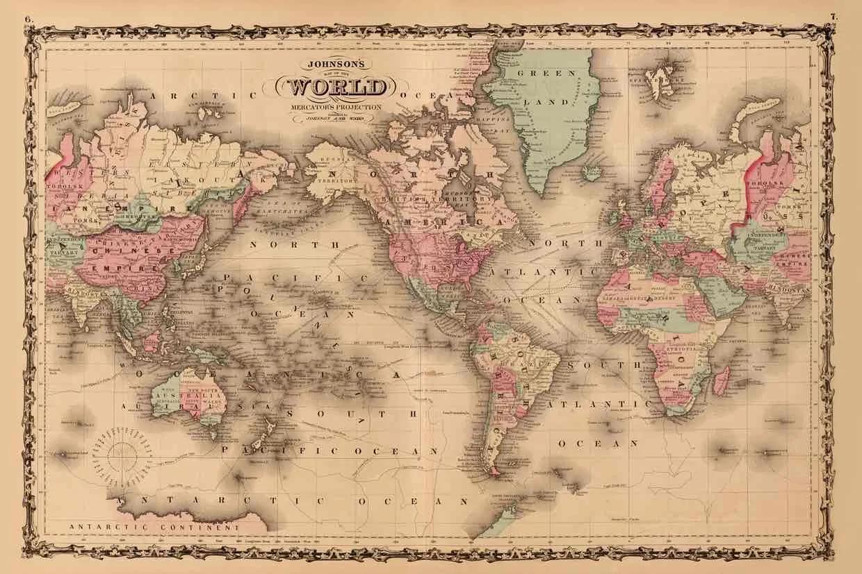 美国一学校改用新世界地图 学生惊掉下巴