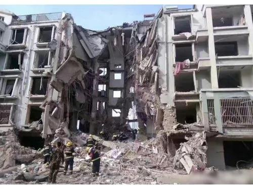 影片曝光 内蒙古发生气爆 整栋楼直接塌陷