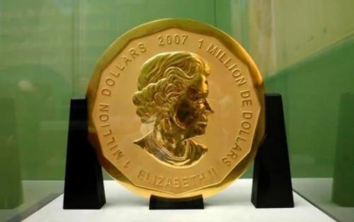 """德国博物馆一枚重100公斤""""超级金币""""失窃"""