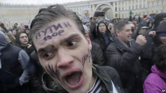 十月革命百年 俄罗斯惊现抗议浪潮