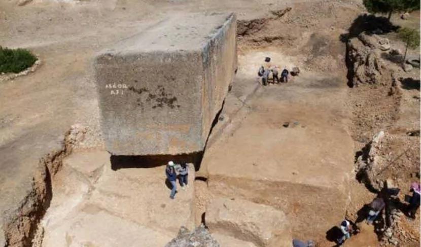 外媒:巴勒贝克发现世界上最大的古代人造巨石块!