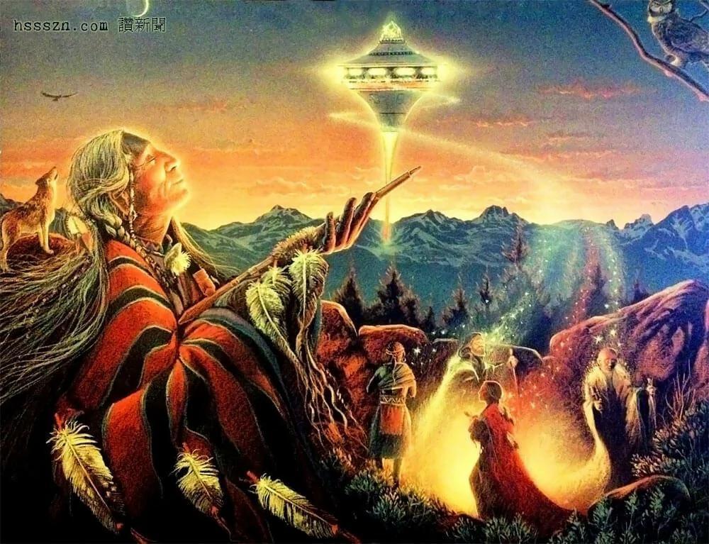 """外媒:侯匹族祖先描述""""飞行盾牌""""太空船摧毁了第三时代世界文明"""