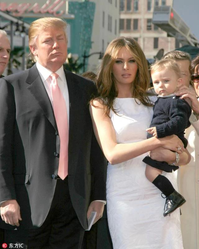 特朗普小儿子巴伦 亿万baby哈欠连天入住白宫