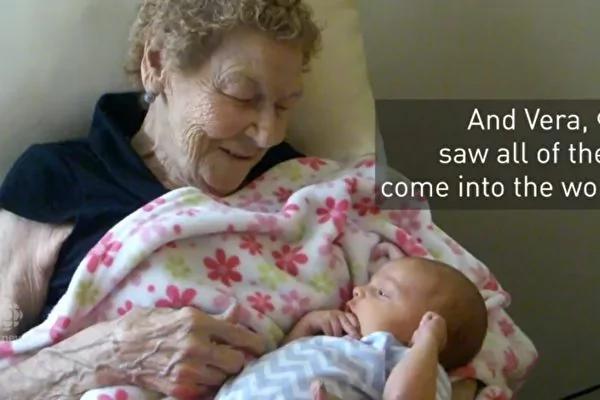 曾曾曾祖母!96岁加国妇女喜见六代同堂