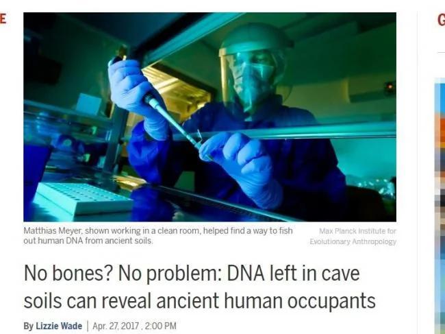 科学重大突破 找到史前人类DNA