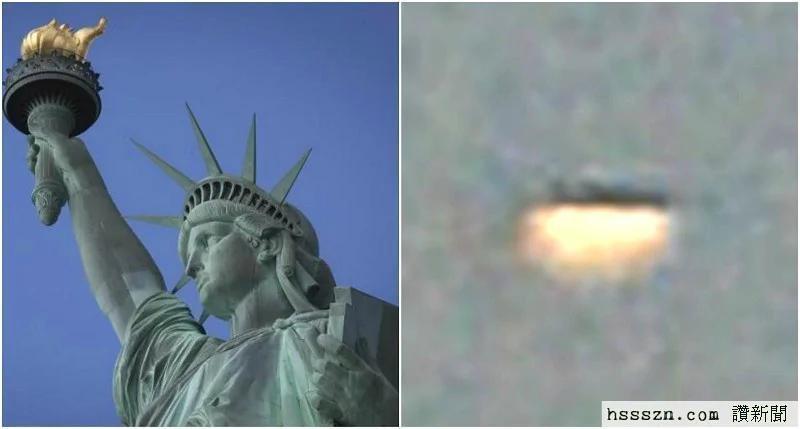 外媒:外星人到纽约观光?巨型UFO出现在自由女神像上空