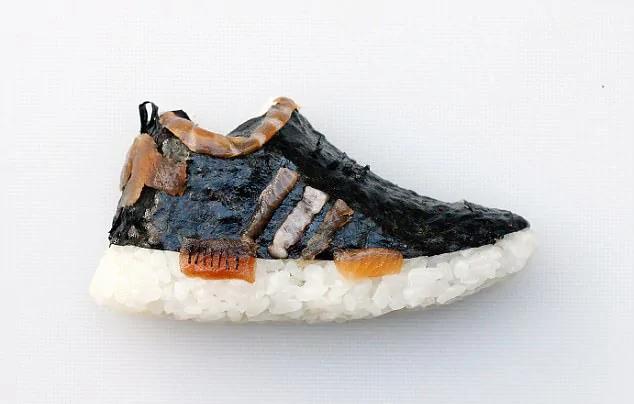 """可以吃的鞋!意大利主厨创作""""寿司运动鞋""""极具创意"""