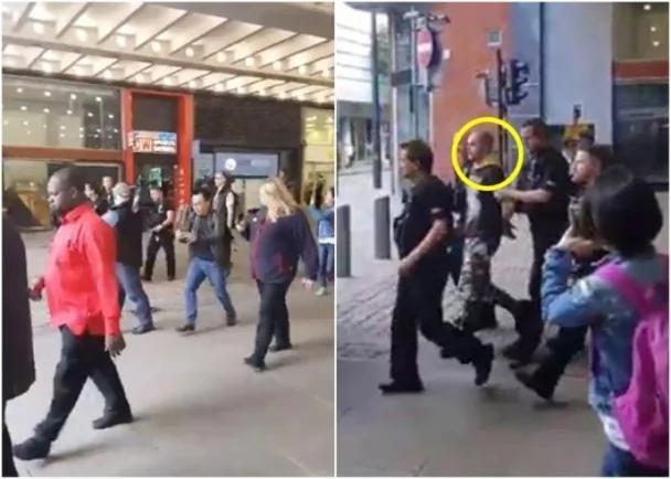 英国曼彻斯特购物中心现可疑包裹 警拘一人(图)