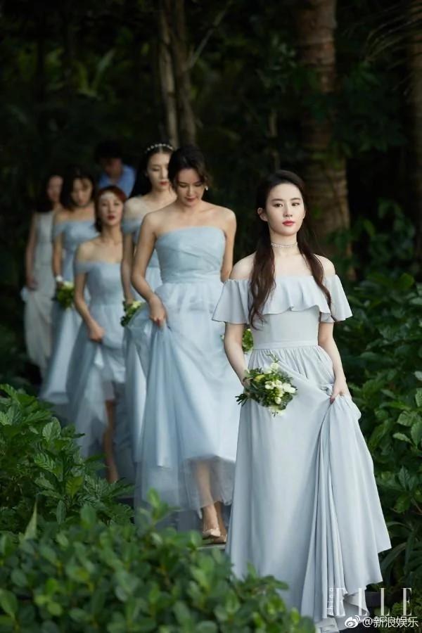 刘亦菲当伴娘不可怕 可怕的是她已经克制了美貌